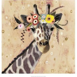 Art Print: Klimt Giraffe II by Victoria Borges: 20x20in found on Bargain Bro Philippines from Art.com for $20.00