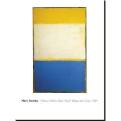 Stretched Canvas Print: Yellow, White, Blue Over Yellow on Gray, 1954 by Mark Rothko: 48x36in found on Bargain Bro Philippines from Art.com for $340.00