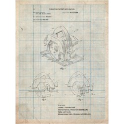 Art Print: Circular Saw Patent by Cole Borders: 24x18in