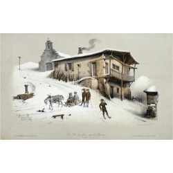Giclee Print: France, Postal Station in Pyrenees, 1850: 24x16in