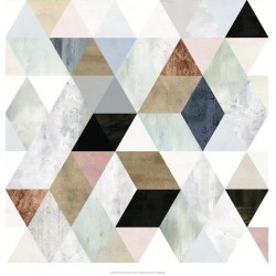 Art Print: Watercolor Mosaic I by Victoria Borges: 20x20in found on Bargain Bro Philippines from Art.com for $30.00