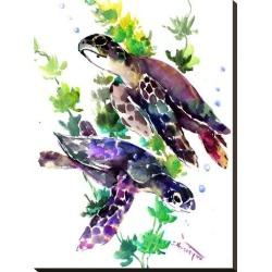 Stretched Canvas Print: Turtle by Suren Nersisyan: 32x24in found on Bargain Bro from Art.com for USD $102.60
