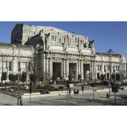 Photographic Print: The Facade of Milan Central Railway Station (Milano Centrale) by Stuart Forster: 24x16in