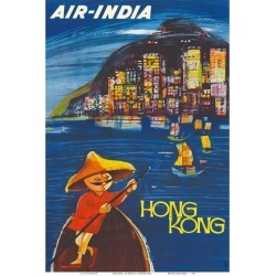 Art Print: Hong Kong Maharaja - Air India by J.B. Cowasji: 19x13in