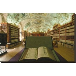 Stretched Canvas Print: Theological library, Strahov Abbey, Prague, Central Bohemia, Czech Republic: 15x22in found on Bargain Bro Philippines from Art.com for $89.00