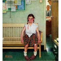 Giclee Print: Rockwell Art Print by Norman Rockwell by Norman Rockwell: 16x16in
