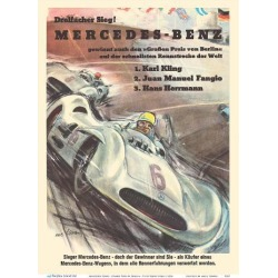 Art Print: Mercedes Benz - Grand Prix of Berlin - Formula One Racing by Hans Liska: 12x9in found on Bargain Bro Philippines from Art.com for $20.00