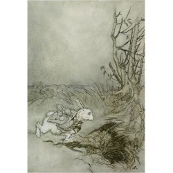 Giclee Print: The White Rabbit from 'Alice's Adventures in Wonderland', 1907 (Pen, Ink and W/C on Paper) by Arthur Rackham: 24x16in