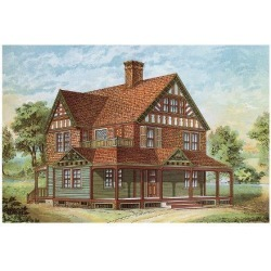 Art Print: Victorian House, No. 18: 9x12in