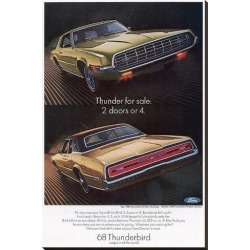 Stretched Canvas Print: 1968 Thunderbird 2 Doors or 4: 44x29in