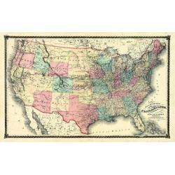 Giclee Print: 1876, United States Railroad, Missouri, United States: 24x18in