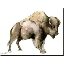 Stretched Canvas Print: Bison by Suren Nersisyan: 30x40in found on Bargain Bro India from Art.com for $140.00
