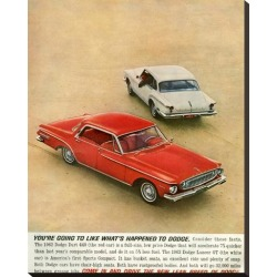 Stretched Canvas Print: 1962 Dodge Dart 440 & Lancer Gt: 29x23in found on Bargain Bro India from Art.com for $160.00