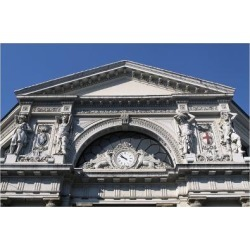 Giclee Print: Decorative Detail from Entrance to Genova Piazza Principe Railway Station, Genoa, Liguria, Italy: 24x16in