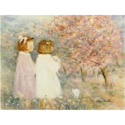 Art Print: In the Apple Orchard Art Print by Hélène Léveillée by Hélène Léveillée: 9x12in found on Bargain Bro Philippines from Art.com for $15.00
