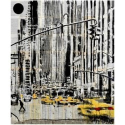 Giclee Print: Somewhere in New York City by Loui Jover: 18x16in