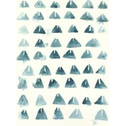 Art Print: Blue Batik Motif III by June Vess: 24x18in found on Bargain Bro from Art.com for USD $15.20