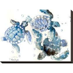 Stretched Canvas Print: Sea Turtles by Suren Nersisyan: 11x15in found on Bargain Bro from Art.com for USD $57.00