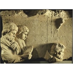 Giclee Print: Relief of Travelers. Gallo-Roman Civilization, 170-180: 24x18in