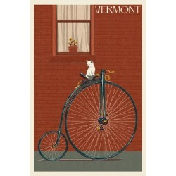 Art Print: Vermont - Bicycle by Lantern Press: 24x16in found on Bargain Bro India from Art.com for $35.00