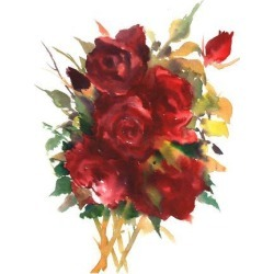 Art Print: Deep Red Roses by Suren Nersisyan: 24x18in found on Bargain Bro from Art.com for USD $19.00