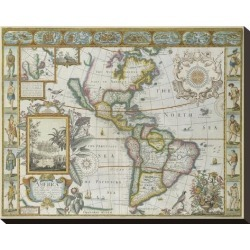 Stretched Canvas Print: Map of America (Imaginaire) by Maria Mendez: 16x20in found on Bargain Bro India from Art.com for $140.00