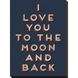 Stretched Canvas Print: To the Moon and Back Canvas Print: 16x12in found on Bargain Bro Philippines from Art.com for $95.00