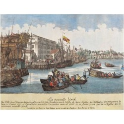 Giclee Print: USA, New York Port, View of Busy Port: 24x18in found on Bargain Bro India from Art.com for $25.00