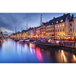 Photographic Print: Nyhavn Canal in Copenhagen, Demark. by SeanPavonePhoto: 24x16in