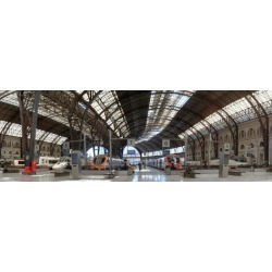 Photographic Print: Railway station, Barcelone-Franca, Barcelona, Catalonia, Spain: 36x12in