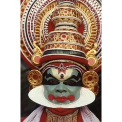 Photographic Print: Kathakali, the Classical Dance-Drama of Kerala Region in Trivandrum, Kerala, India: 24x16in