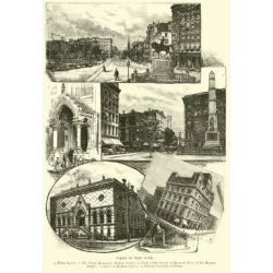 Giclee Print: Views in New York: 24x16in