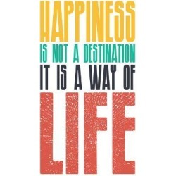 Stretched Canvas Print: Happiness by Good Vibe Design: 40x30in found on Bargain Bro Philippines from Art.com for $225.00