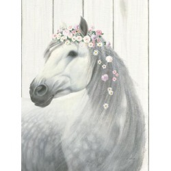 Art Print: Spirit Stallion II on Wood by Wild Apple Portfolio: 32x24in