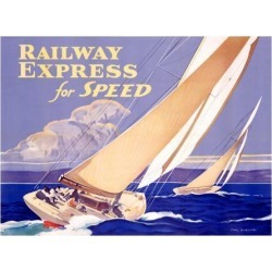 Giclee Print: Railway Express for Speed Wall Art: 24x32in