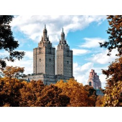 Photographic Print: The San Remo Building in the Fall, Central Park, Manhattan, New York, United States by Philippe Hugonnard: 24x18in
