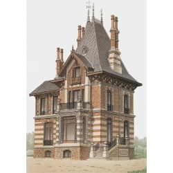 Art Print: Victorian House, No. 6: 12x9in