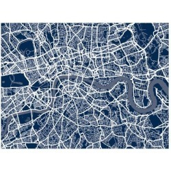 Art Print: London England Street Map Art Print by Michael Tompsett: 24x18in found on Bargain Bro India from Art.com for $20.00