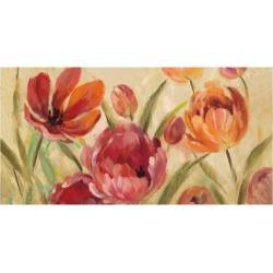 Art Print: Expressive Tulips Neutral V2 by Silvia Vassileva: 24x16in