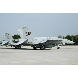Photographic Print: U.S. Navy FA-18C Hornet at Naval Air Station Oceana, Virginia by Stocktrek Images: 24x16in
