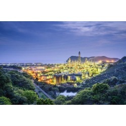Photographic Print: Oil Refineries in Wakayama, Japan. by SeanPavonePhoto: 24x16in