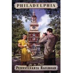 Art Print: Philadelphia Go By Train: 24x18in