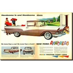 Stretched Canvas Print: Ford 1957 Ranchero - Handsome: 24x37in found on Bargain Bro India from Art.com for $160.00