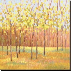 Stretched Canvas Print: Yellow and Green Trees (center) by Libby Smart: 30x30in found on Bargain Bro from Art.com for USD $98.80