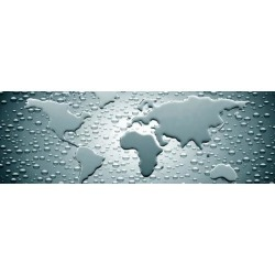 Photographic Print: Water Drops Forming Continents Poster: 24x8in found on Bargain Bro India from Art.com for $15.00