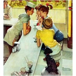 Giclee Print: Diners Art Print by Norman Rockwell by Norman Rockwell: 16x16in