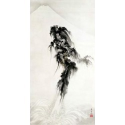 Giclee Print: Rising Dragon and Mt Fuji by Suzuki Kiitsu: 24x16in found on Bargain Bro from Art.com for USD $22.80