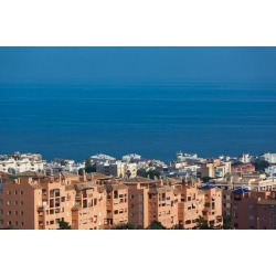 Photographic Print: Hotels at the waterfront, Torremolinos, Malaga Province, Andalusia, Spain: 24x16in found on Bargain Bro India from Art.com for $25.00