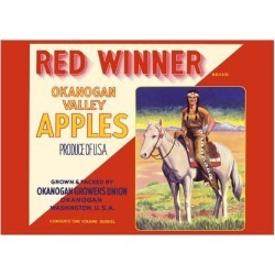 Premium Giclee Print: Okanogan Valley Washington Apples - Red Winner Brand by Pacifica Island Art: 18x24in