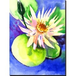 Stretched Canvas Print: Lotus by Suren Nersisyan: 40x30in found on Bargain Bro from Art.com for USD $106.40